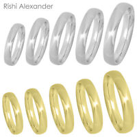 Stainless Steel Mens Wedding Band Comfort Ring Silver or Gold