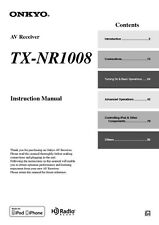 Onkyo Integra TX-NR1008 Receiver Owners Instruction Manual