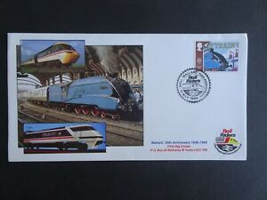 RWC GB Mallard 50th Anniversary Railway First Day Cover dated 1988