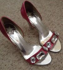 Pink Patent Leather Shoes With Diamanté Bling Detailing Size 5