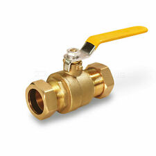 Midline Valve Premium Brass Full Port Ball Valve, with Compression Joints