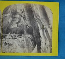 1860s Suisse Stereoview 182 Gorge De Pfafers Alpine Club W England