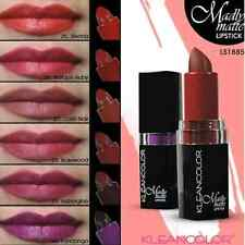 6pc FULL SET Kleancolor Madly Matte Lipstick VIVID BOLD PURPLE BROWN RED L1885