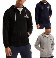 ellesse Mens Briero Zip Up Hooded Sweatshirt Top Black Blue Grey Hoodie