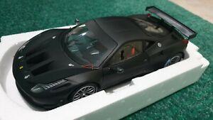 Hot Wheels Elite Ferrari 458 Italia GT2 black 1/18