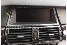 Black Carbon Fiber Front Navigation GPS Frame Cover Trim for BMW X5 E70 2007-13