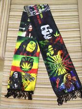 Bob Marley Reggae Weed LA Wailing Wailers Muffler Costume Shawl Tasseled Scarf