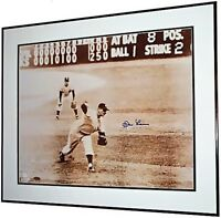 Don Larsen signed Yankees 1956 WS Perfect Game 16x20 poster photo framed Steiner