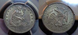 1875 S Seated Liberty Quarter 25c PCGS AU 53