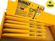 """(10) DEWALT 9"""" DW4803B SAWZALL SAW BLADES 6TPI BI METAL & WOOD W/ NAILS"""