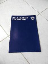 Lancia Beta Berline 1300 1600 2000 1978 - catalogue brochure dépliant prospekt