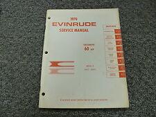 1970 Evinrude Triumph 60 HP Outboard Motor Shop Service Repair Manual