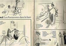 PUBLICITE ADVERTISING 055  1973  KIRAZ  les PARISIENNES dans le bain ( 2p)