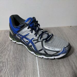 Asics Mens Gel Kayano 21 T4H2N Blue Black Running Shoes Lace Up Low Top Size 11