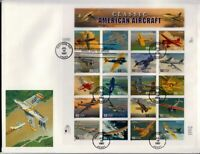 1997 Classic American Aircraft Sc 3142 full sheet FDC Fleetwood