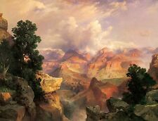 The Grand Canyon by Thomas Moran Mountains Landscape Valley Western Canvas 20x30