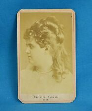1860/70s CDV Photo Carlotta Grossi Italian Opera Singer Actress Diva