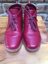 Bally original Euro Soft Red leather Desert Boots. Size 39 E - Wide - As New