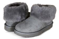 UGG Australia Classic Mini Fluff Womens Classic Boots Charcoal 1106757-CHRC