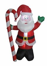 4 Foot Christmas Inflatable Santa Claus with Candy Cane Yard Outdoor Decoration