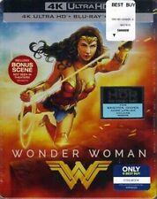 NEW 2017 Wonder Woman 4K Ultra HD Blu-Ray Digital Best Buy SteelBook Bonus Scene