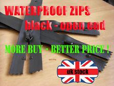 Waterproof Zip Open End Zip No5 Black Zipper 70cm Waterproof Zips Plastic Zip