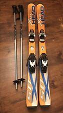 Head Xrc 50 Kids Junior 117 Downhill Skis w Rossignol Comp J Bindings and poles