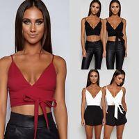 Fashion Women Summer Vest Crop Top Sleeveless Shirt Blouse Casual Tank T-Shirt