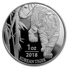 2018 South Korea Tiger 1 oz .999 Silver Coin