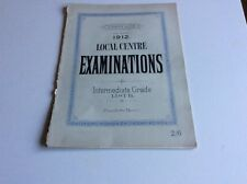 1912 School Examinations Intermediate  Piano Augeners Edition