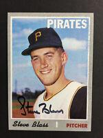 Steve Blass Pirates Signed 1970 Topps Baseball card #396 Auto Autograph
