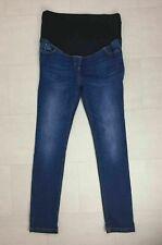 JoJo Maman Bebe Blue Denim Dark Wash Maternity Skinny Jeans UK Size 12