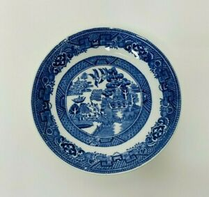 Vintage Olde Willow Alfred Meakin England Small Plate Saucer Blue