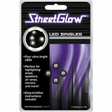 Streetglow White Single LED 12v, (Pack of 4) ANLEDWH