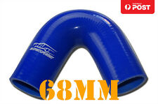 "4PLY Silicone 135 Degree Elbow Hose Pipe 68mm 2.68"" Blue"