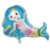 Lovely Mermaid Foil Balloons Kids Toys Christmas Birthday Party DIY Decor LJ