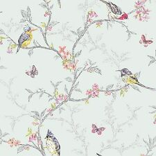 Phoebe OISEAUX 10m Papier Peint Doux sarcelle Par Holden décor - 98083 - Neuf