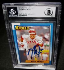 BGS Authentic Autograph 2013 Topps Archives MIKE TROUT AUTO Baseball Card #200