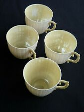 BELLEEK. FOUR LIMPET DEMI-TASSE, COFFEE CUPS. 3 GM. 1965-1980