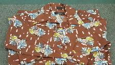 Media 1970's Vintage Polyester Sailor Crows Nest Big Collar Longsleeve Shirt Med
