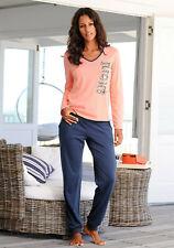 Vivance Dreams Pyjama mit seitlichem Print, koralle-marine. NEU!!!