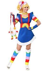 Women's Plus Size Rainbow Brite Costume