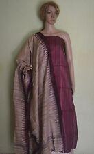 Tussar Ghicha Handloom Unstitch Salwar suit set with Ikat dupatta Burgundy Beige