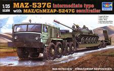 TAKOM 1//72 MAZ-537G tracteur avec Chmzap 5247 G semi-remorque Nº 05004