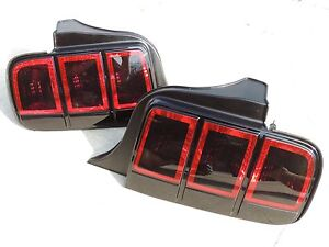 05-09 Ford Mustang Smoked Tail lights OEM Painted 2013 style Black Custom!