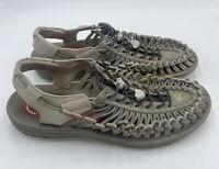 Keen Uneek X RFW Mens 11 M Gray 2 Cord Lightweight Sport Water Sandal 1018681
