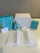 Tiffany Empty Jewellery Pouch, Box, Ribbon, Card, Tissue, Bag And Post Box