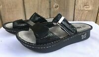 Alegria Karmen Black Metallic Fun Women's Slide Thong Sandals US 8 - 8.5 / EU 38