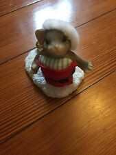 Charming Tails Santa Imposter Mouse Figurine 98/236 Jingle Bell Christmas