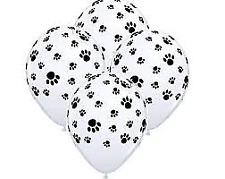PAW PRINT Balloons x 6